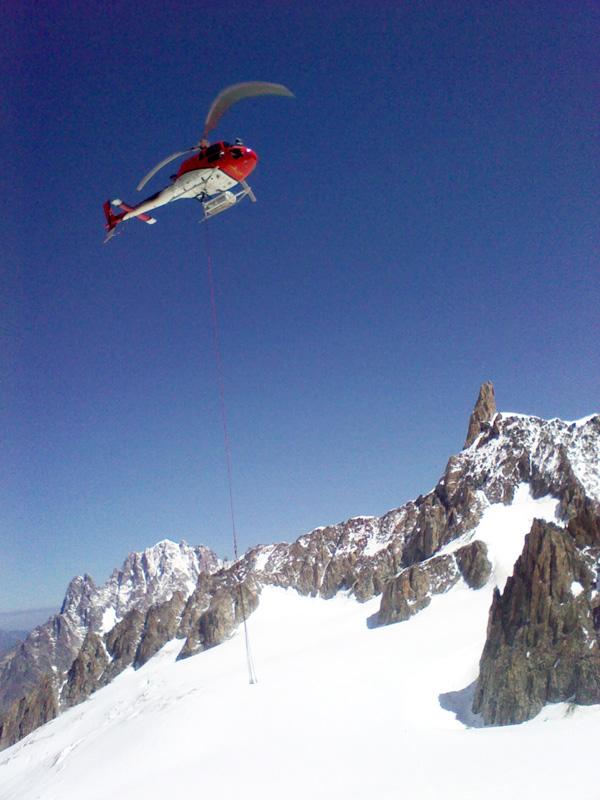 Elicottero Monte Bianco : Nuove funivie del monte bianco speciale cantieri dove